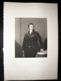 After Thomas Lawrence 1843 Folio Mezzotint Portrait. Henry Viscount Melville
